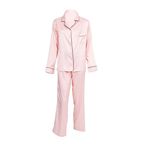 Bella Blue Damen Pyjama-Sets Abigail Pink (Pale Pink/Black)