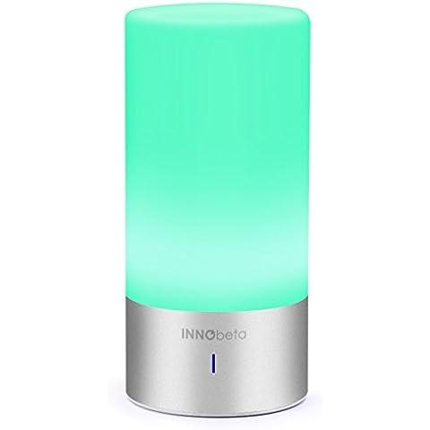 Innobeta Smartlight - Lámpara Táctil de Mesa de noche LED que cambia de color de múltiples funciones, RGB ( 256 Luces de Colores ) + Blanco Caliente Luz de Ambiente con el altavoz