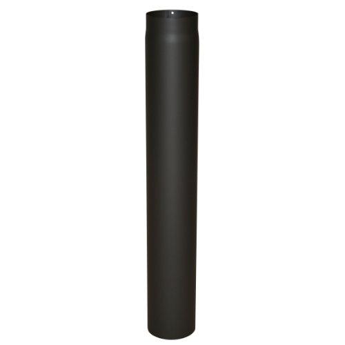 Kamino Flam Ofenrohr schwarz, Rauchrohr aus Stahl für sichere Ableitung von Verbrennungsgasen, hitzebeständige Senotherm; Beschichtung, geprüft nach Norm EN 1856-2, Maße: L 1000 x Ø 150 mm