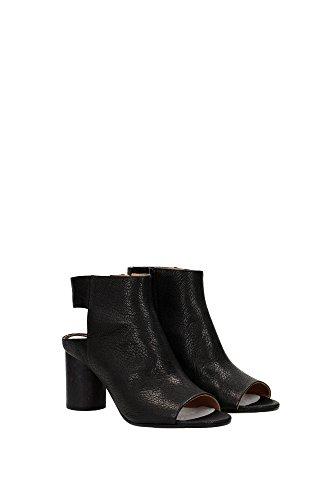 S38WP0377SX9778900 Martin Margiela Sandale Femme Cuir Noir Noir