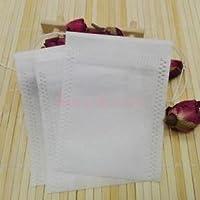 Alcoa Prime 50pcs Empty Teabags Non-Woven String Heat Seal Filter Paper Herb Bag 7x10cm