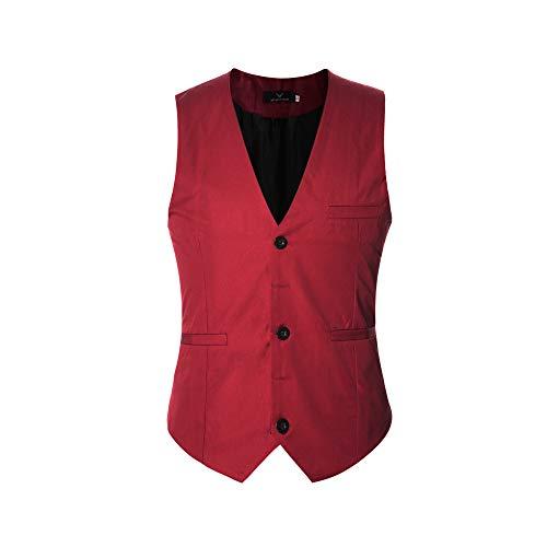 Gilet Costume Homme Sans Manche Slim Fit Multicolore Veste Business Mariage Elégant