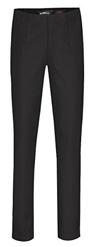 Robell Damen Slim Arbeitshose-Stretchhose, Black, Gr.- 42