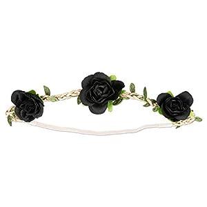 Alpenflüstern Trachten-Haarband Rosen-Blüten in Traditionellen Farben ADV103