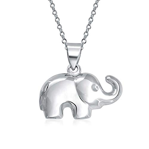 Buena Suerte Animales Zoo Simple Collar Del Colgante De Elefante Para La Mujer Para Adolescente 925 Plata De Ley 925