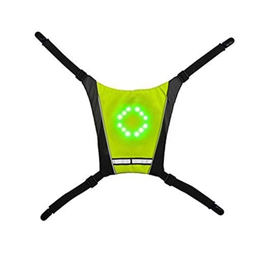 Dengofng Bicicleta Reflectores LED Intermitente Bicicleta Paquete Accesorio/LED Mochila Widget con Direction Indicador - Recargable USB Bolsa Luz de Seguridad para Ciclismo por la Noche, Impermeable