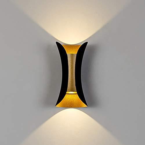 LJL LED Métal Industriel Applique Mini Personnalité Magnifiquement Design Décorer Applique Éclairage Chevet Couloir Balcon (Couleur : Noir)