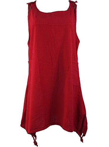 Tunica boho-chic maxi da Mini vestito rosso/tuniche rosso 42