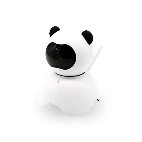 JHSHENGSHI 1080P WLAN Kamera,Panda Home Security Wireless Camera, IP Kamera mit 2 Wege Audio,Bewegungserkennung,Nachtsicht und Intelligenter Rotation, Indoor-Baby/Haustier-Monitor, White (Vor Der Tür Security Monitor)