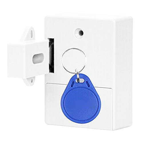 JIEHED Electronic Opening Sensor Drawer Lock, Smart Lock for Locker Drawer Smart Sensing Induction Cabinet Wardrobe Door Lock Home Security Locks -