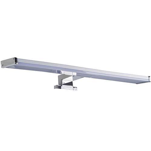 LED Spiegelleuchte BALI S12 | Spiegellicht Bad 60 Cm Breit | Aufbauleuchte 960 Lm 12W Chrom Optik Warmweiß |Oktaplex Lighting Mit IP44 Anschlussbox