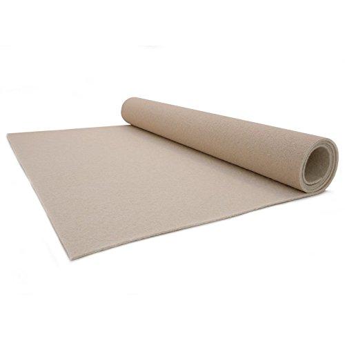 Primaflor-Ideen in Textil Teppichläufer 1m x 23m Creme - Hochzeitsläufer - VIP Eventteppich - 2,6mm Höhe
