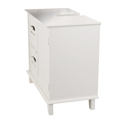 "ᐅ Waschtischunterschrank ""Florian"", Holz, Weiß - 33 x 65 x 55 cm ... | {Waschtischunterschrank holz weiß 52}"