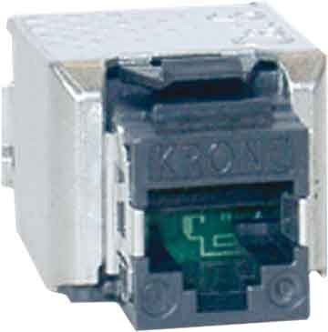 TE Connec. Amp/DAC (EU) modular-jack Cat6A 6830 1 811-04 sw componibile giunto 4024672314667