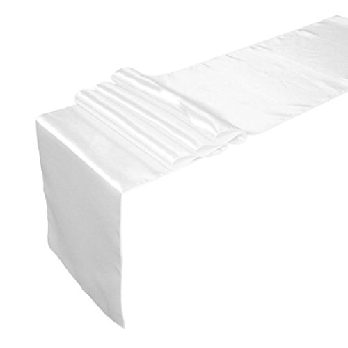 30 x 250cm Satin Table Runner Hochzeit Empfang Bankett Dekoration - 108 In Läufer Tabelle