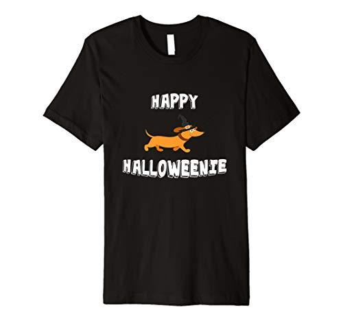 Happy Halloweenie Dackel T-Shirt Halloween Wiener Hund