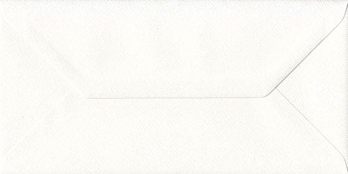 GF Smith Briefumschläge, 110 x 220 mm, gummiert, Antik-Optik, elfenbeinfarben, 50 Stück