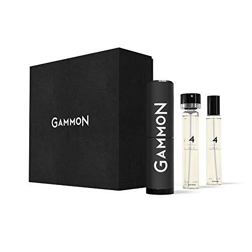 GAMMON 4 - THE BLACK HOODIE, Eau de Performance STARTER-SET, 2 x 20 ml Eau de Parfum für Herren/Männer