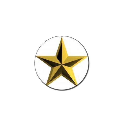 Anstecker Goldener Stern Metall, für Revers Hut Shirt Tasche Geldbörse als Krawattennadel