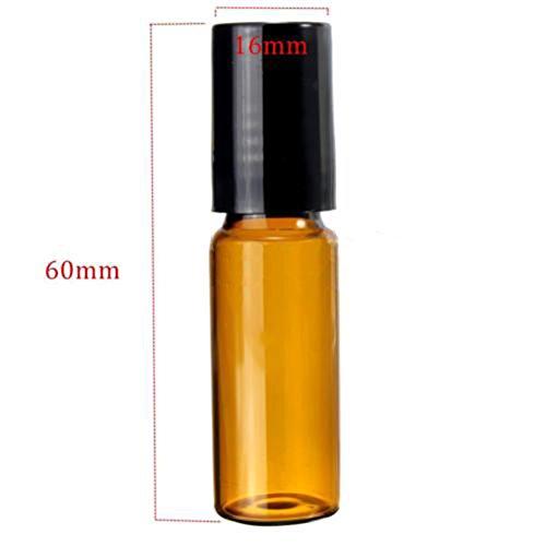Steellwingsf Roll-on-Glasflaschen für ätherisches Öl, 5 ml/10 ml, bernsteinfarben, 10 Stück