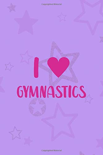 I Gymnastics: All Purpose 6x9 Blank Lined Notebook Journal Way Better Than A Card Trendy Unique Gift Purple Star Gymnastic