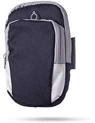 XYQY Sports Running Armband Bag Funda para la Cubierta Correr Universal Impermeable Soporte para teléfono móvil Deporte Deporte al Aire Libre Brazo del teléfono Federación Rusa Negro