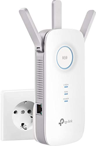 [New] TP- Link Repetidor WiFi inalámbrico,  Velocidad Dual Band AC1750,  WiFi Extender y Access Point,  Compatible con Módem Fibra y ADSL,  1 Puerto Gigabit(RE455)