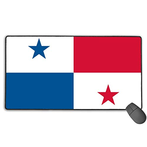 liulishuan Large Gaming Mouse Pad/Mat, Flag of Panama Mousepad with Non-Slip Rubber Base for Computers Office & Home, Durable Stitched Edges Design13