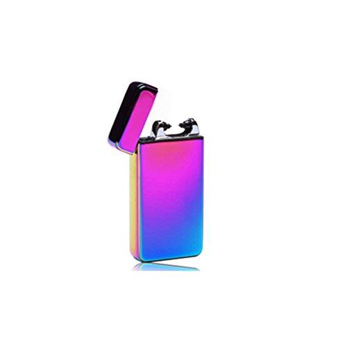 Glovion USB wiederaufladbare Elektro Bogen Zigarette Feuerzeug Gl&aumlnzend -Rainbow