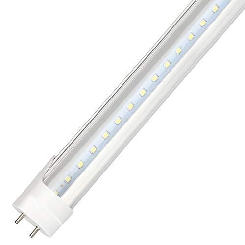 LED-Röhre 1Pack 4ft/120cm,T8 LED Leuchtstoffröhre Integrierte 18W 180° Abstrahlwinkel 1500LM 6500K(Tageslichtweiß) Leuchtstoffröhre Ersatz für haus und kommerziellen -