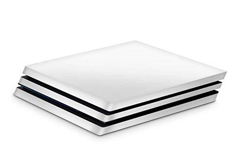 Skins4u Aufkleber Design Schutzfolie Vinyl Skin kompatibel mit Sony PS4 Playstation 4 Pro uni white