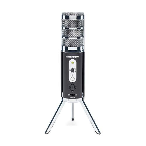 Oferta de SAMSON Satellite - Micrófono de difusión USB/iOS para capturar Audio de Alta definición en tu Ordenador, iPhone o iPad - Negro, SASAT