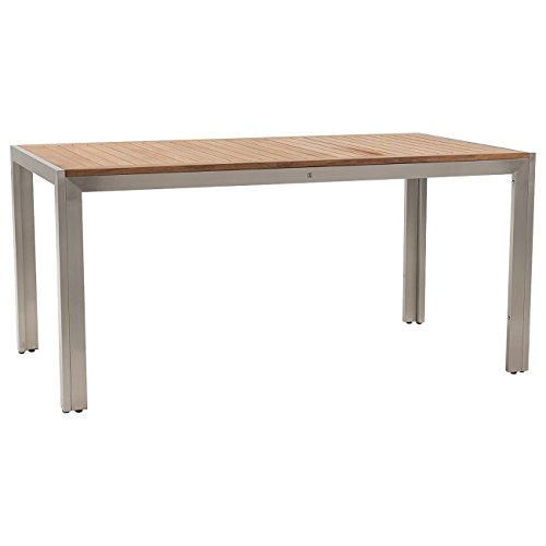OUTLIV. Gartentisch Pasadena Gartentisch 160x90 cm Edelstahl/Teak Tisch Garten
