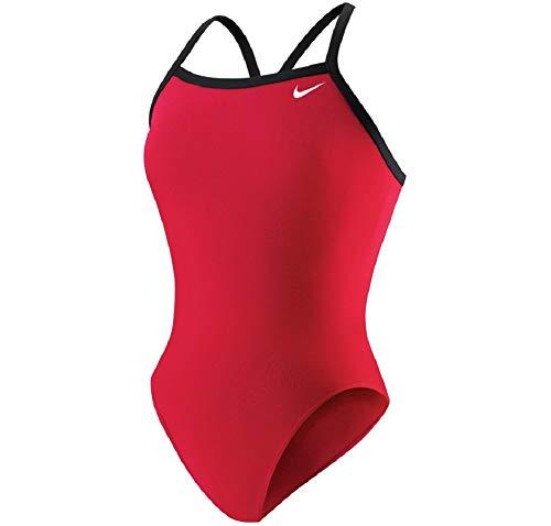 Nike Damen Badeanzug, Rot 36 ITA - Badeanzug Damen Nike