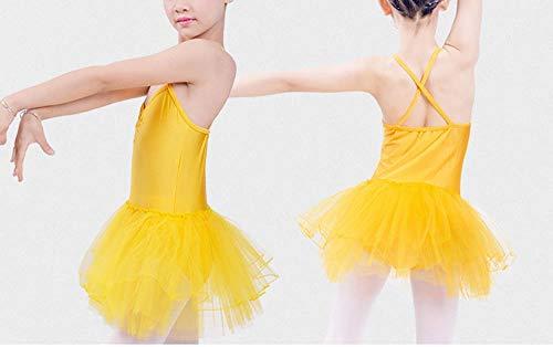 Lateinamerika Tanz Kostüm - Hoverwin Tutu Tanz Klassische, Ballett Mädchen Kleider Tanz Lateinamerika Kostüm, Kleid Lateinamerika Kinder Mädchen Ceremonie wurde, gelb, x-Large