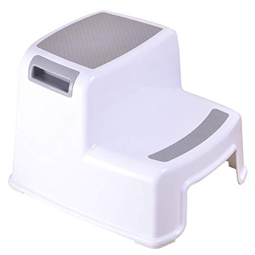 ZYFOY Dual Höhe Schritt Hocker für Kinder Kleinkind Hocker für Potty Training und den Einsatz im Badezimmer oder Küche Versatile Two-Step-Entwurf für Kinder im Wachstum,Gray