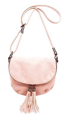 Hello Bag - Sac bandoulière Femmes - Sac à Main Bandoulière Porté Epaule Taille Moyenne - Besace Femme Style Pampilles