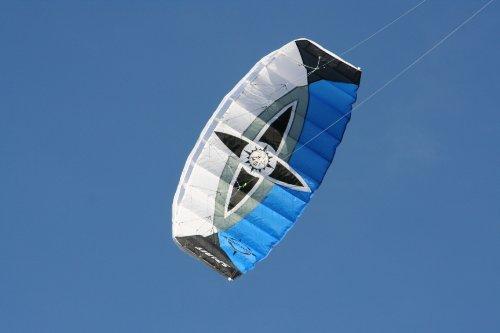 Lenkmatte Sigma Spirit 2.0 schwarz-weiß-blau, rtf, flugfertig, Parafoil, 2-Liner