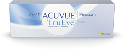 Acuvue 1-Day TruEye Tageslinsen weich, 30 Stück / BC 8.5 mm / DIA 14.2 / -1.50 Dioptrien