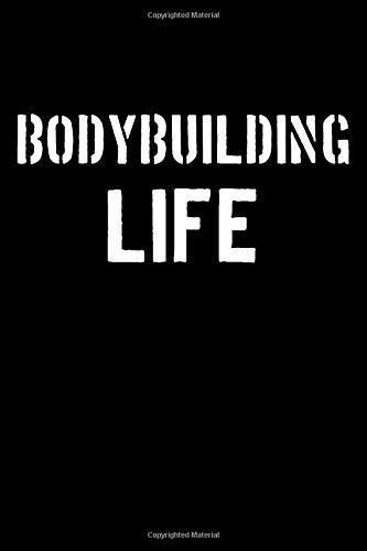 Bodybuilding Life: Blank Lined Journal College Rule Stencil Font por Sportslo Notebooks