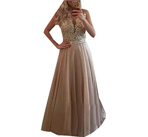 Special Bridal Frauen Chiffon Strass Prom Kleider Sexy Chiffon Party Kleid Illusion zurück Abendkleid Chiffon Prom-abendkleid