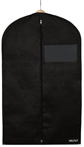 Premium Kleidersack mit Sichtfenster - 100 x 60 cm - atmungsaktive Kleiderhülle / Anzughülle / Anzugsack aus hochwertigem, wasserresistentem Material - erstklassiger Schutz für Ihre Anzüge und Kleider