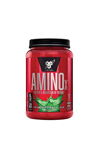 BSN Amino X BCAA Pulver (Zuckerfrei Aminosäuren Komplex Hochdosiert mit Vitamin D, Vitamin B6, Arginin, Taurin und Alanin) Green Apple, 70 Portionen, 1kg