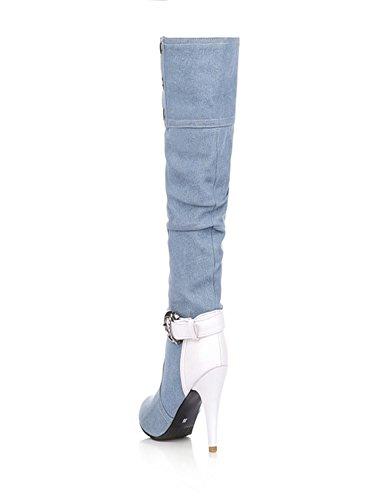 UH , Peep-Toe fille femme bleu clair