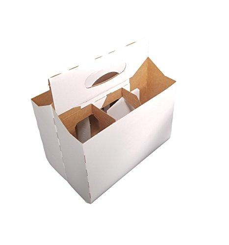 6Pack Weiß Karton 12Oz Bier/Soda Flasche Carrier von MT Produkte-(10Stück) (Bier Flaschen 12oz)