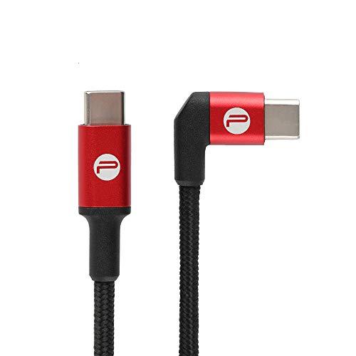 Hensych PGYTECH 65cm Typ C zu Typ C Datenkabel Linie Daten Getriebe Aufladen Kabel für DJI OSMO Action/Pocket Sportkamera-Zubehör,L-förmiger Stecker -