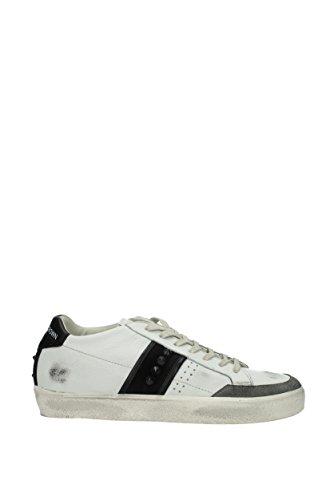 Leather Crown Sneakers Uomo - Pelle (MCL1782BIANCOGREYNERO) 41 EU