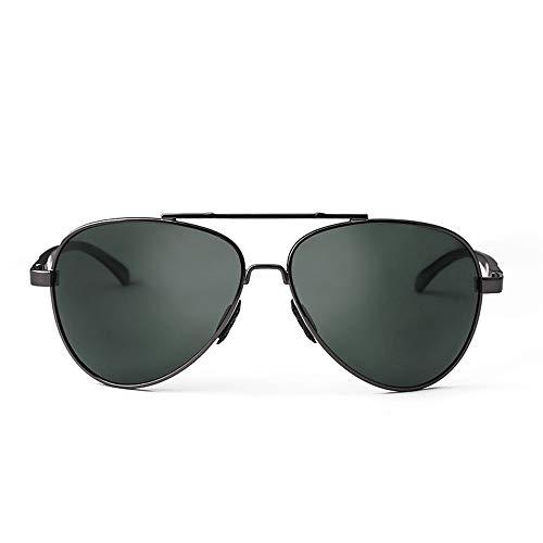 Easy Go Shopping Herren Sport Polarisierte Sonnenbrille Spiegel Objektiv Metallrahmen 100% UVA UVB Driver Pilot Large Frame Sonnenbrille Sonnenbrillen und Flacher Spiegel