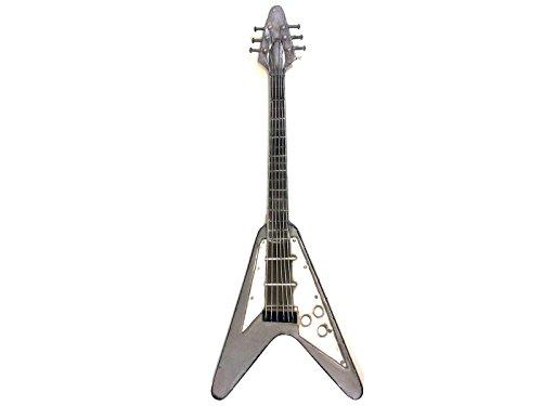Nuevo–decoración de pared de metal contemporáneo escultura–Rock guitarra eléctrica