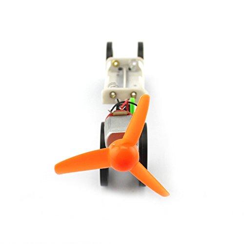 BGNing DIY Montage Wind Power Modell Auto Elektromotor Antrieb Sturm Propeller 4WD Kleine Auto Roboter Wissenschaft Experiment Student Handgemacht